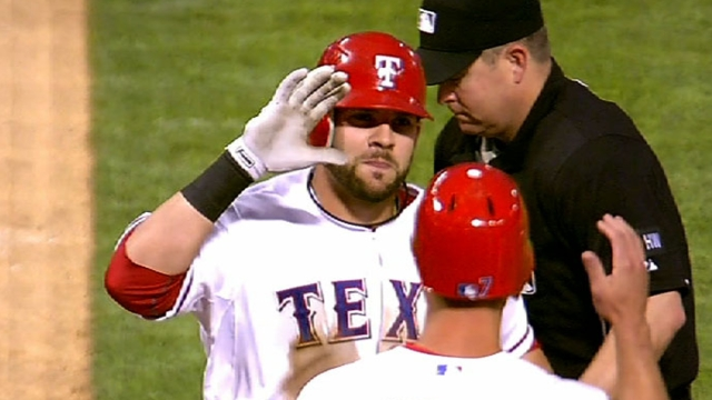 Moreland in Rangers' opening nine for first time