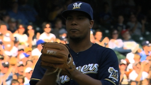 Peralta leads Brewers' talented pipeline
