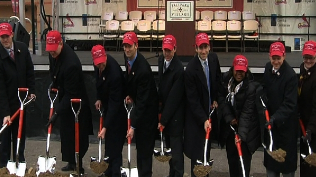 Cardinals break ground on Ballpark Village