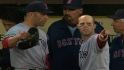 Aceves, Pedroia exchange words