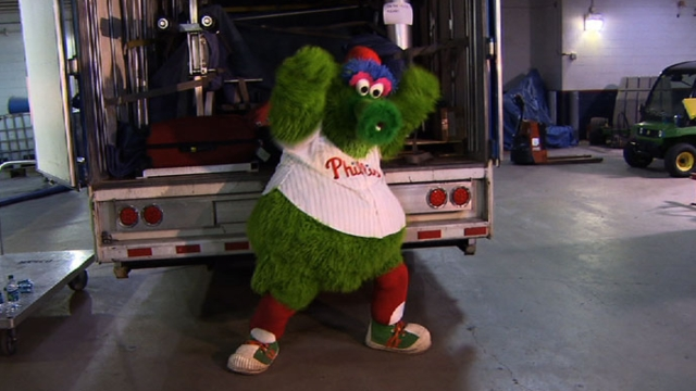 Phillies pack up truck with usual, unusual items