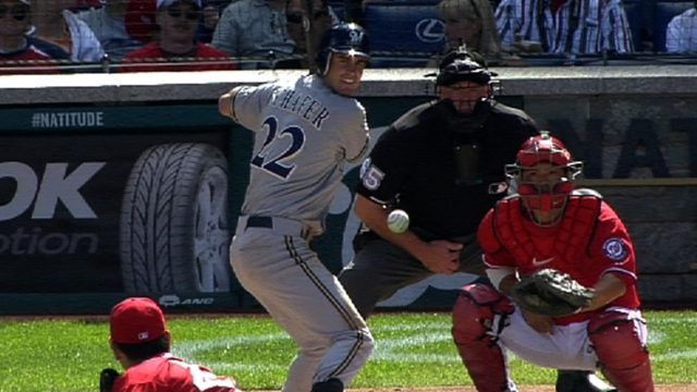 Schafer to serve as Brewers' emergency catcher