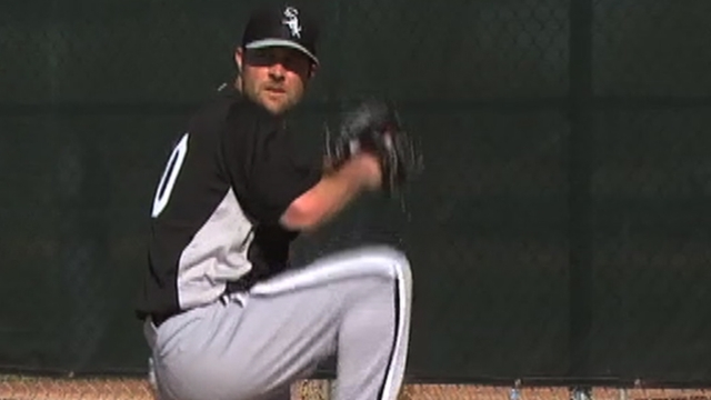 Danks feels good about first bullpen session