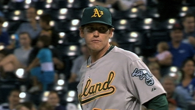 Straily determined to earn final spot in A's rotation