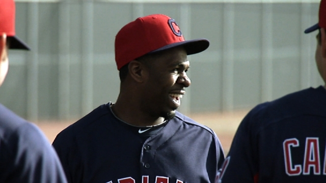 Bourn introduced as Indians' latest acquisition
