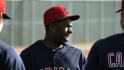 Bourn, Antonetti, Francona chat