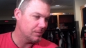 Chipper drops by Spring Training