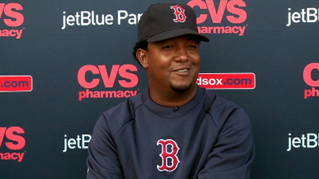 Pedro having a blast in new role with Red Sox