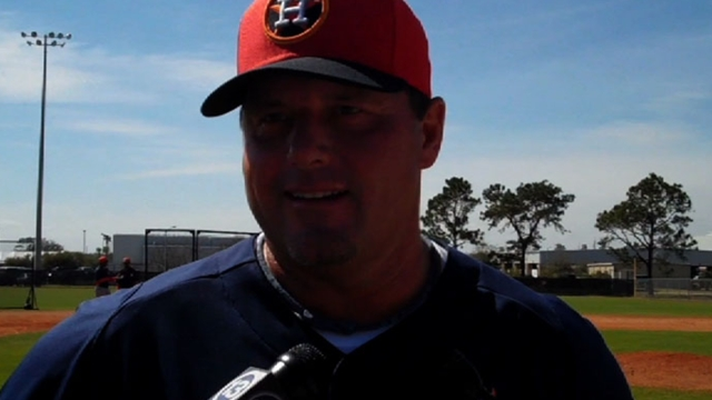 Clemens throws live BP to Astros hitters