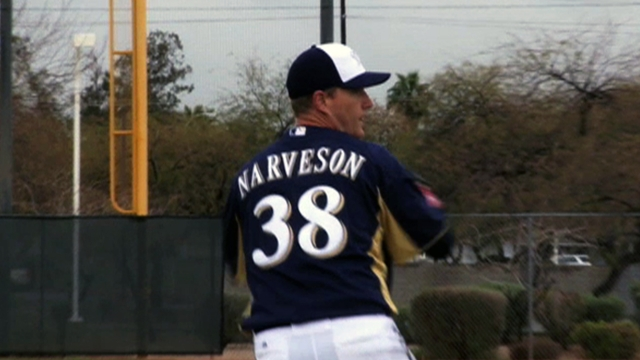 Narveson begins rehab process by playing catch