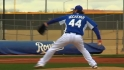 Yost, Hochevar on scrimmage