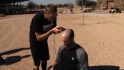 Danks gets buzz cut for a cause