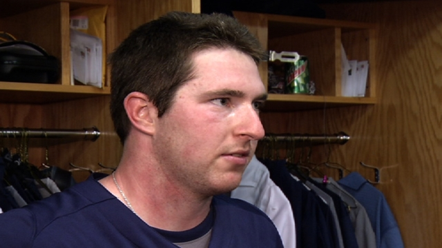 Gyorko wastes little time in getting first hit