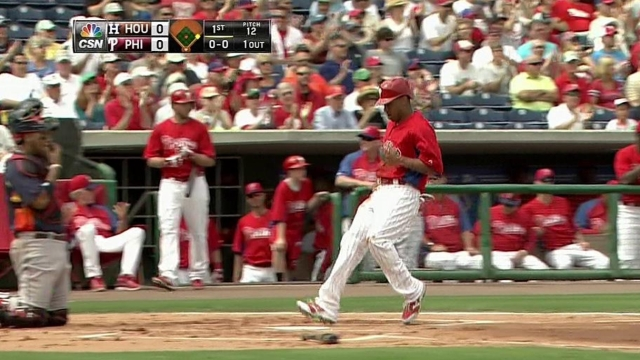 Utley, Hamels come out sharp in Phils' spring opener
