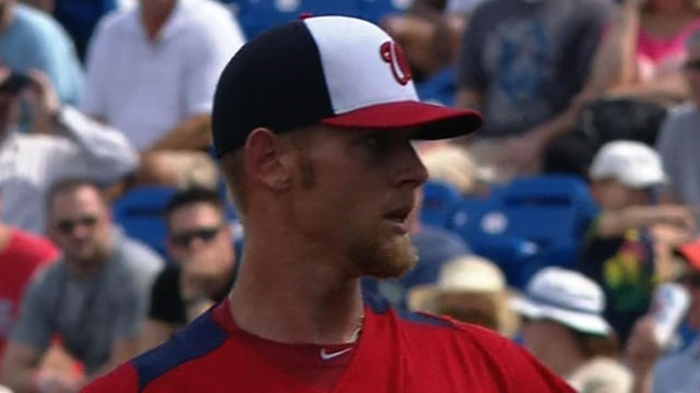 Strasburg allows two runs in two frames vs. Mets