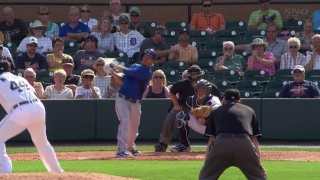 Goins hits a three-run homer