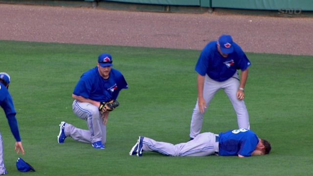 McCoy back in action after scary outfield collision