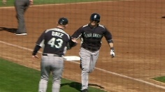 Bay bolsters roster hopes with two-run homer