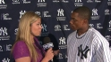 Granderson on his broken forearm