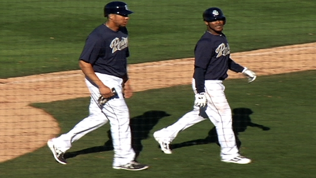 Ross allows homer, fans pair in two frames