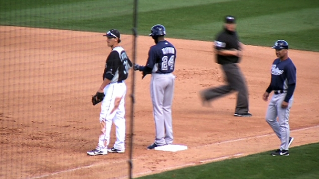 Garcia roughed up in Cactus League debut