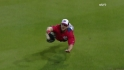 Brown's diving grab