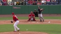 Diaz singles to center