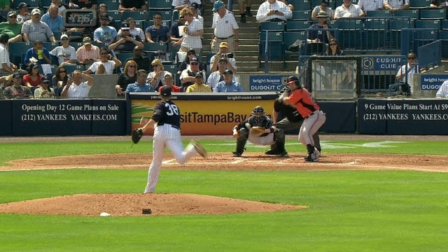 Pearce's big day at plate leads O's past Yanks
