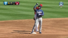 Hamilton, Weaver spark Angels' rout of Dodgers