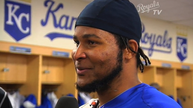 Royals homer twice in Santana's strong debut