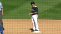 Ibanez laces a double into right