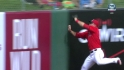Trout's wall-rattling catch