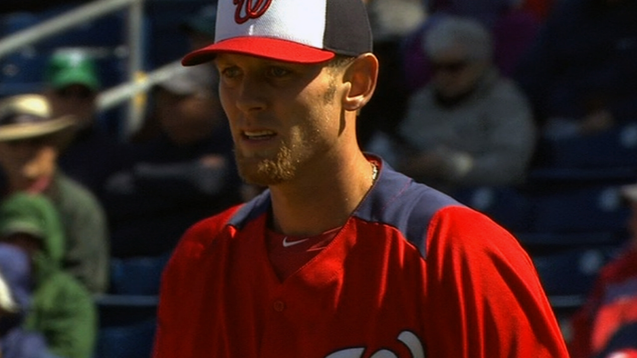 Strasburg strikes out six, but offense falls short