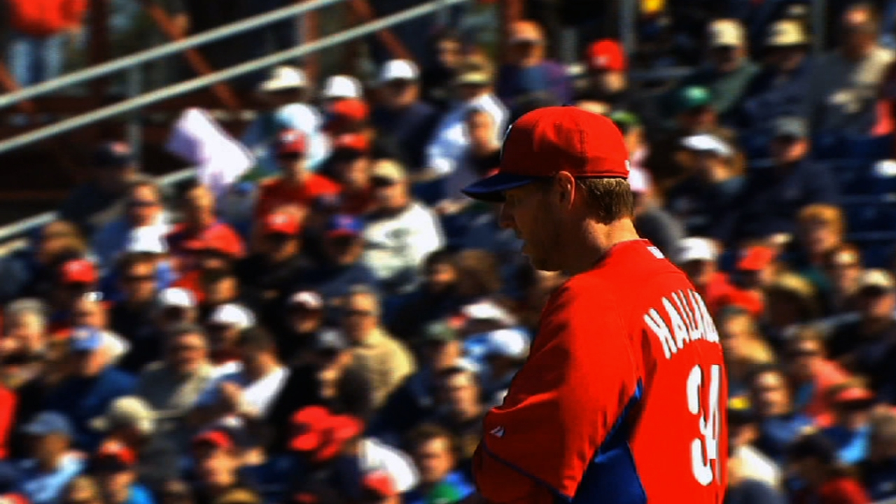 Halladay's four shutout frames help sink Nats