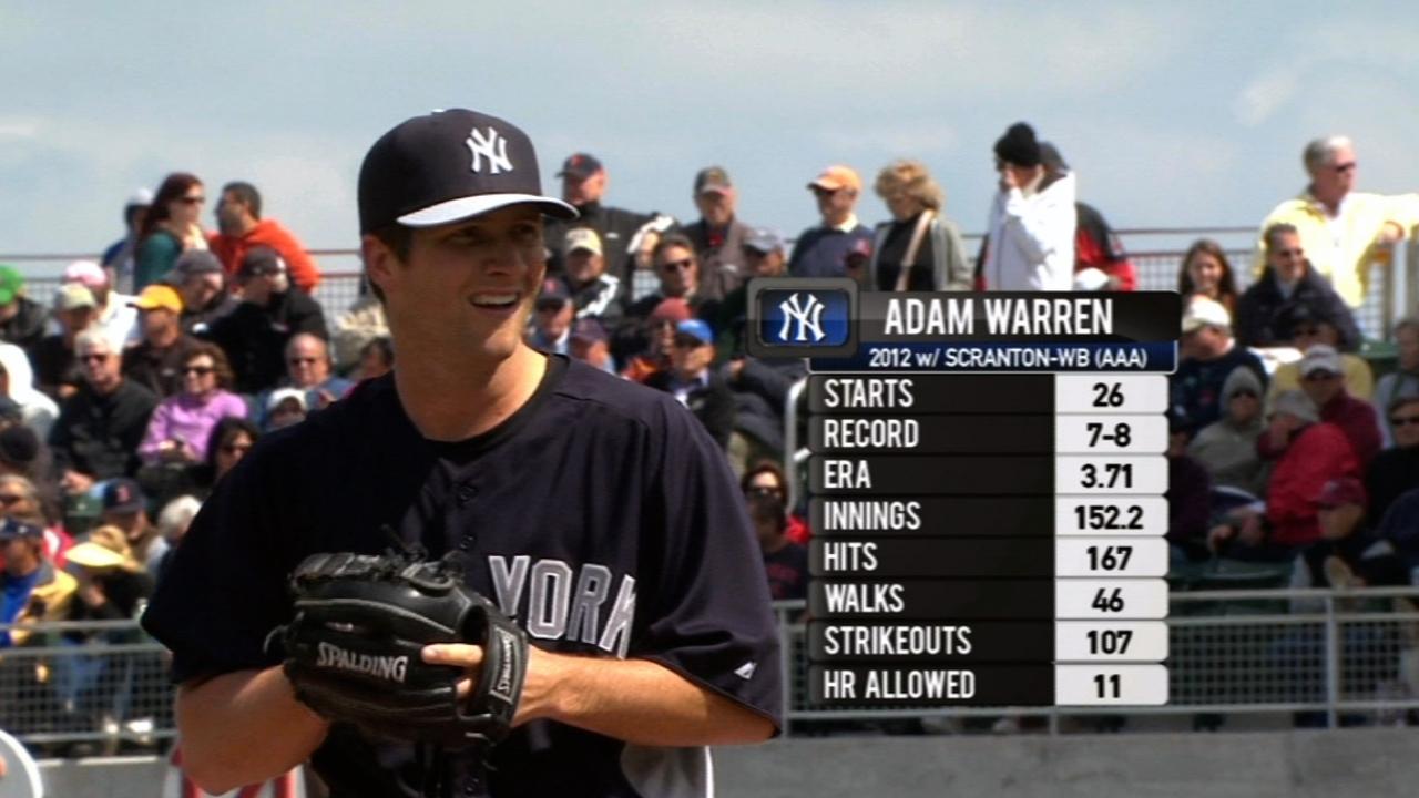 Eppley, Warren earn final spots on Yanks' roster