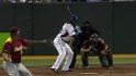 De Aza's two-run double