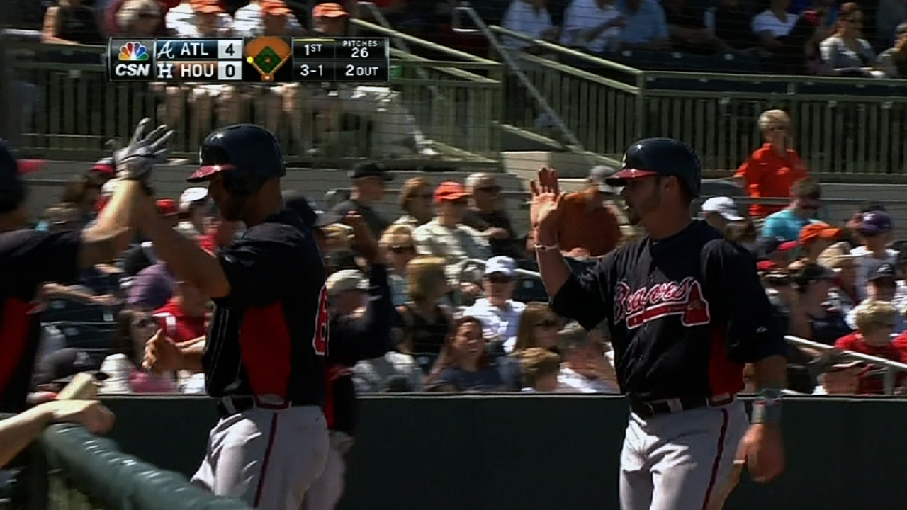 Freeman, Gattis lead Braves' offensive attack