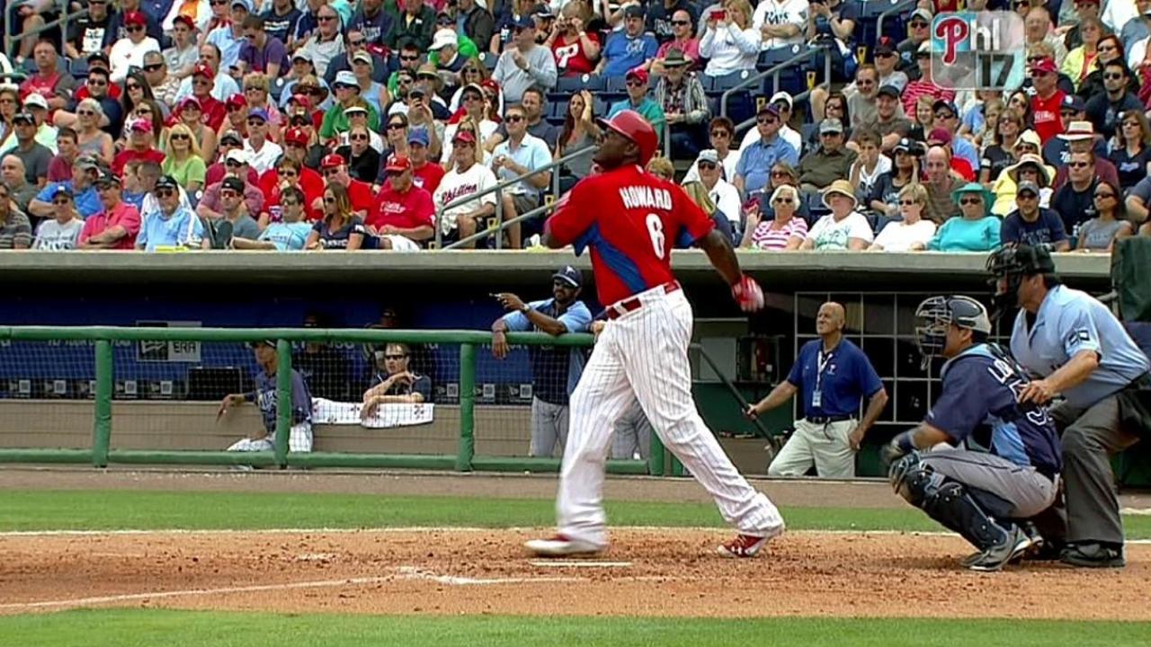 Scorching hot Howard blasts fourth spring homer
