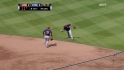 DeShields&#039; barehanded play