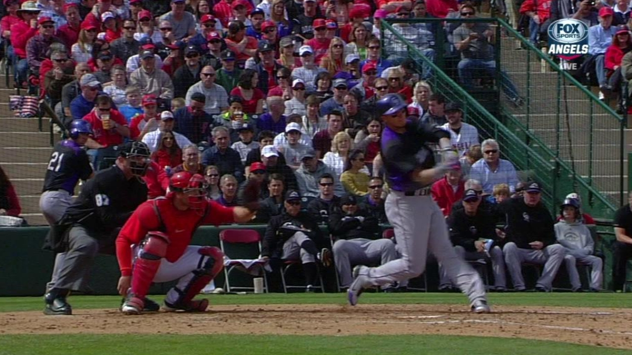 Tulowitzki homers as Rockies beat Angels
