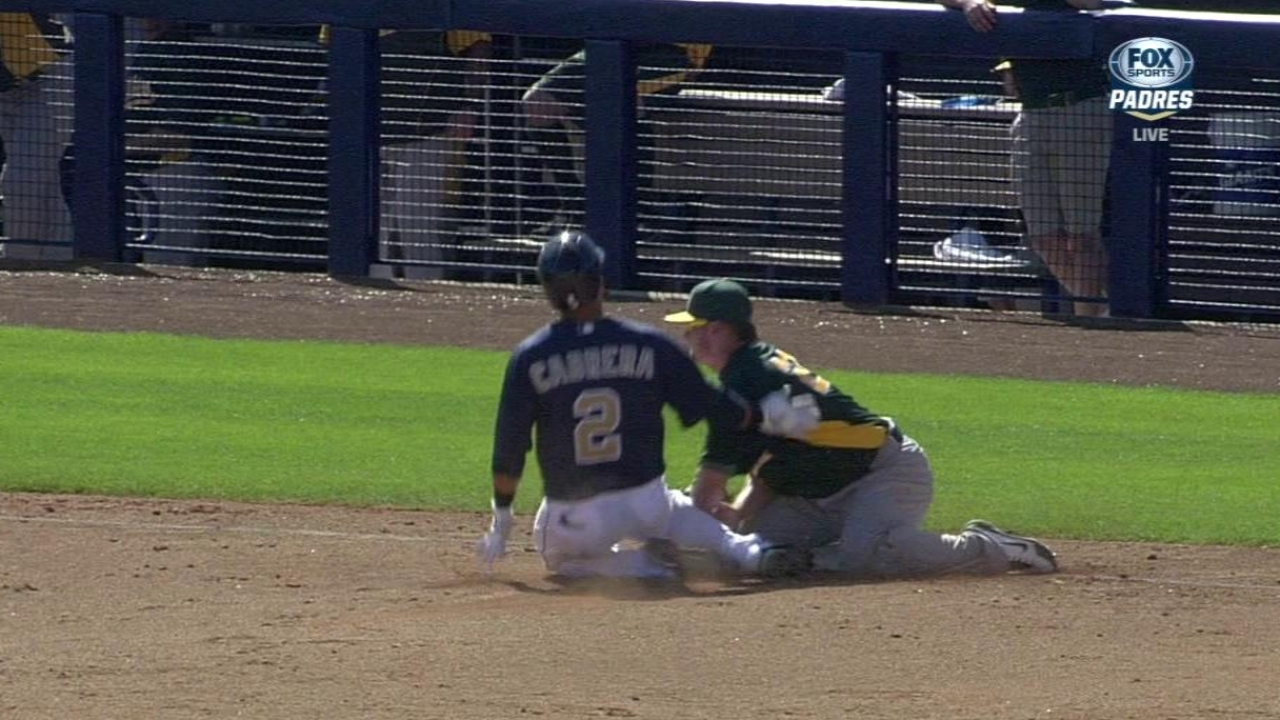 Parker struggles, Smith solid at plate as A's fall