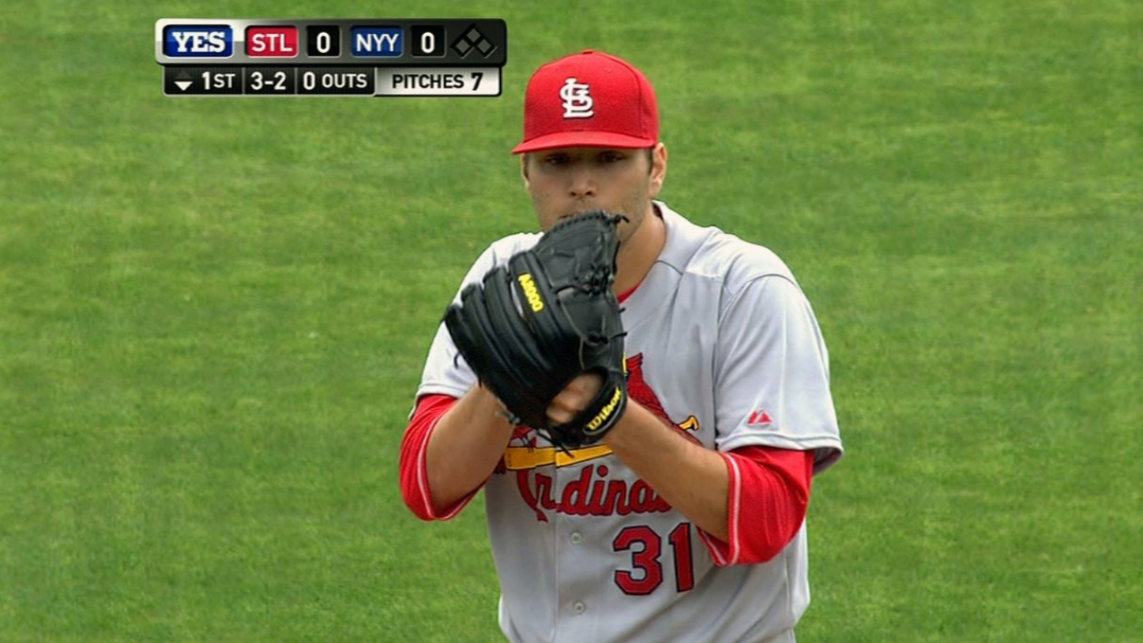 Lynn has two-hit outing in Cards' loss to Yanks