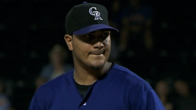 Chacin lets loose late in simulated game