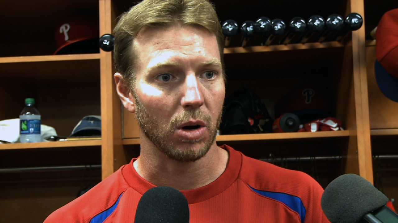 Halladay insists he is healthy after rough outing