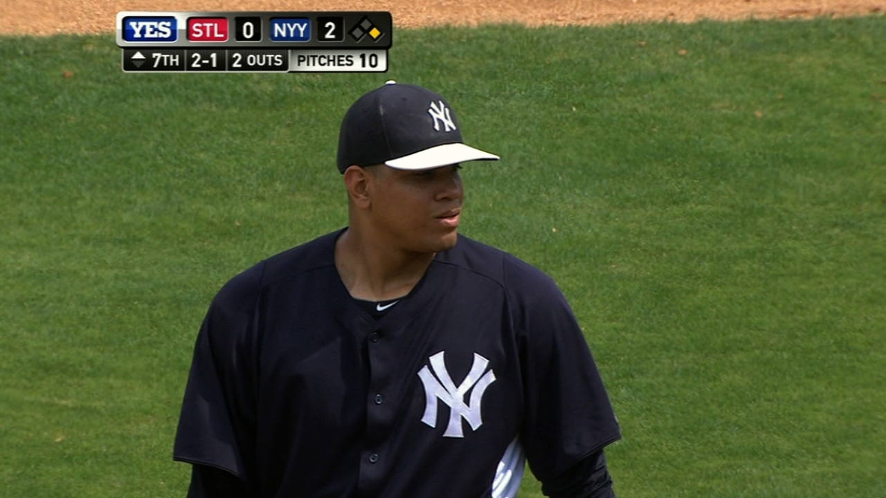 Betances excited to compete for bullpen openings