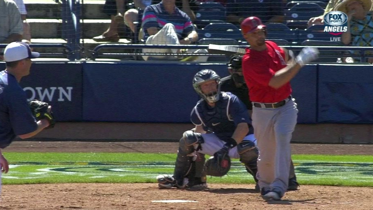 Pujols runs for himself for first time this spring