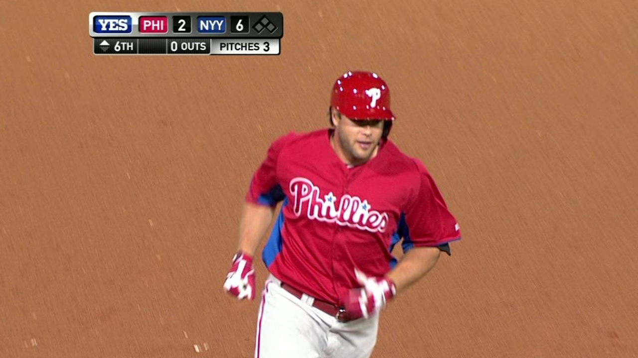 Ruf goes deep in Phillies' loss to Yankees