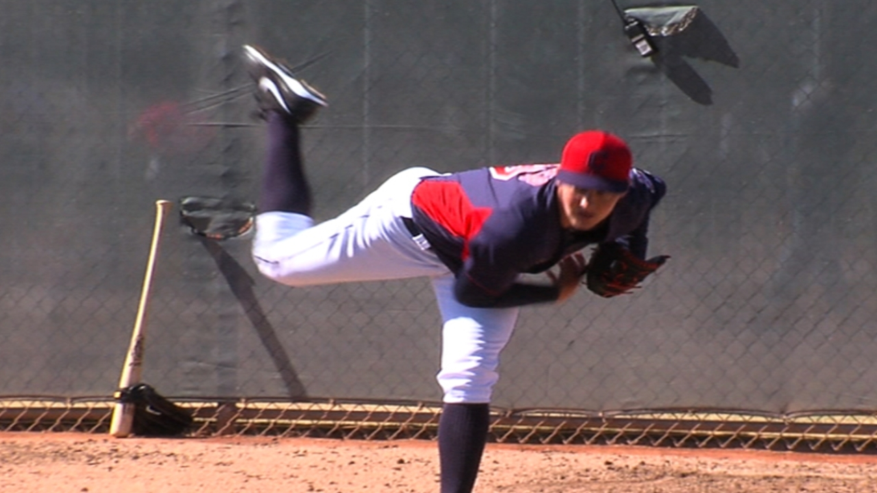 Indians option Bauer to Triple-A for more seasoning