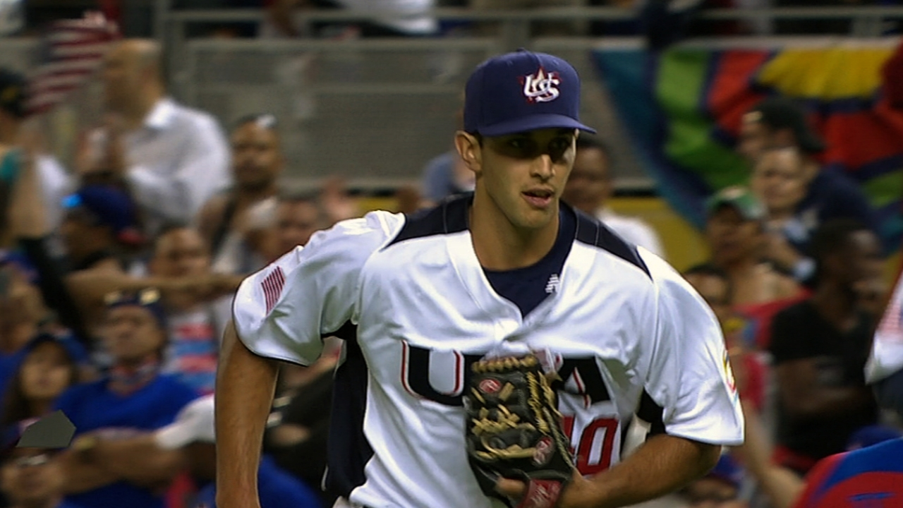 Cishek displaying nasty stuff for Team USA