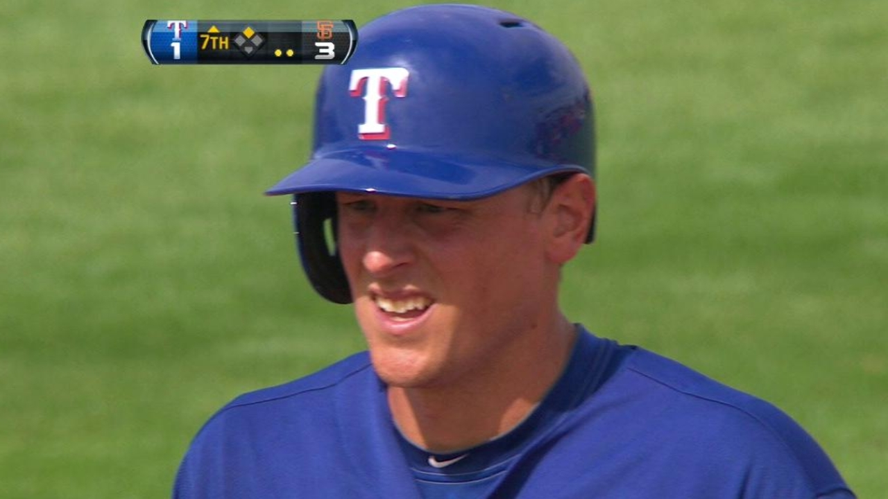 Adduci gets Rangers going as Lowe shines vs. Giants